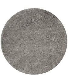 "Safavieh Polar Silver 5'1"" x 5'1"" Round Area Rug"