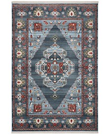 """Vintage Persian Blue and Light Blue 9' x 11'-7"""" Area Rug"""