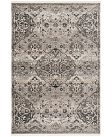 Vintage Persian Gray 5' x 5' Square Area Rug