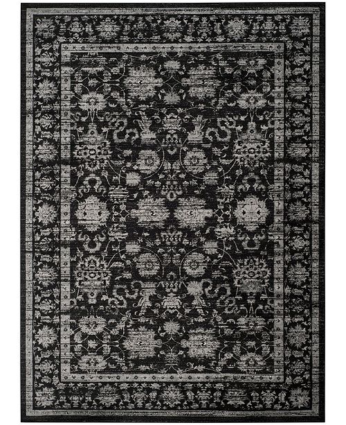 Safavieh Vintage Black and Light Gray 8' x 11' Area Rug