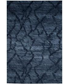 Safavieh Retro Blue and Dark Blue 6' x 9' Area Rug