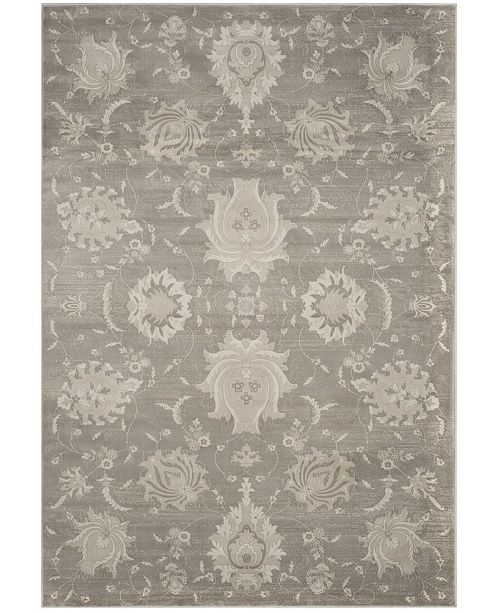 "Safavieh Vintage Gray and Ivory 6'7"" x 9'2"" Area Rug"