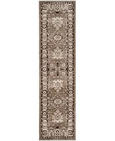 """Vintage Hamadan Taupe 2'2"""" x 6' Runner Area Rug"""
