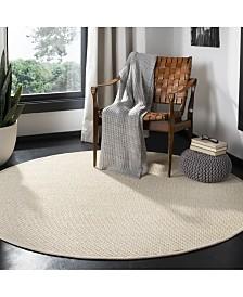 Safavieh Natural Fiber Ivory and Light Beige 6' x 6' Sisal Weave Round Area Rug