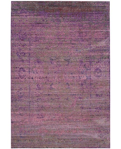 Safavieh Valencia Lavender and Multi 6' x 9' Area Rug
