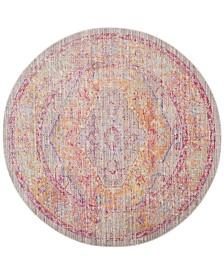 Safavieh Windsor Gray and Gold 6' x 6' Round Area Rug