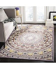 "Paradise Purple and Cream 5'1"" x 7'6"" Area Rug"