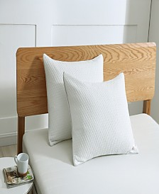 St. James Home Cooling Knit Bed Pillow with Nano Feather Fill and Removable Cover Collection