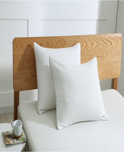 St. James Home Cooling Knit Bed Pillow with Nano Feather Fill and Removable Cover Standard