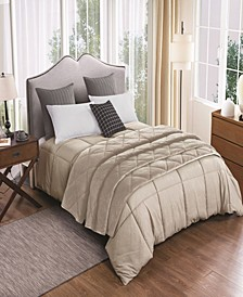 2pc Velvet Blanket and Down Alternative Comforter Set King