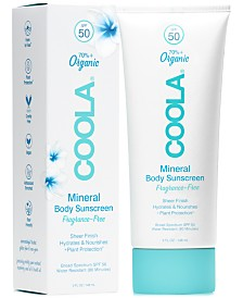 Coola Fragrance-Free Mineral Body Sunscreen SPF 50, 5-oz.