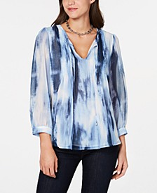 Tie-Dyed Pleated Top, Created for Macy's
