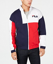 Men's Roland Colorblocked Full-Zip Fleece Logo Sweatshirt