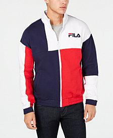 Fila Men's Roland Colorblocked Full-Zip Fleece Logo Sweatshirt
