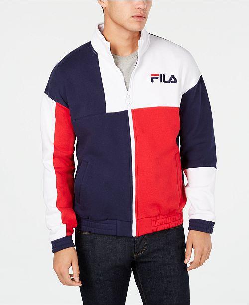 c6b69f05 Men's Roland Colorblocked Full-Zip Fleece Logo Sweatshirt