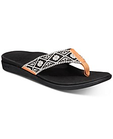 Ortho Bounce Woven Flip-Flop Sandals