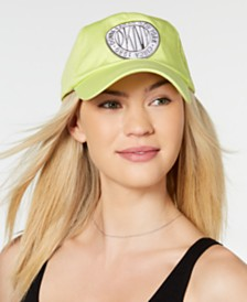 DKNY Embroidered Logo Token Baseball Hat