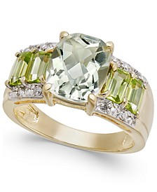 Multi-Gemstone (4-3/8 ct. t.w.) & Diamond Accent Statement Ring in 10k Gold