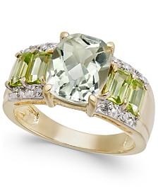 Multi-Gemstone (4-3/8 ct. t.w.) & Diamond Accent Statement Ring in 10k Gold