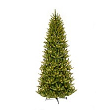 International 9 ft. Pre-lit Franklin Fir Pencil Artificial Christmas Tree 550 UL listed Clear Lights