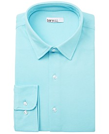 Men's Slim-Fit Stretch Knits Solid Dress Shirt, Created for Macy's