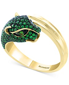 EFFY® Emerald (1 ct. t.w.) and Tsavorite Accent Panther Ring in 14k Gold