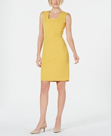 Kasper Petite Square-Neck Sheath Dress