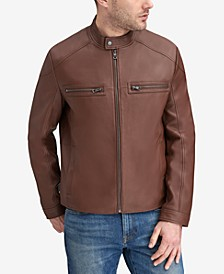 Men's Leather Racer Jacket