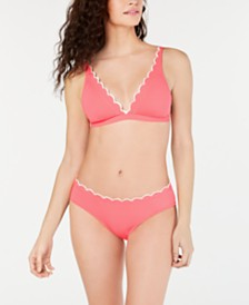 Kate Spade Scalloped Bikini Top & Bottoms