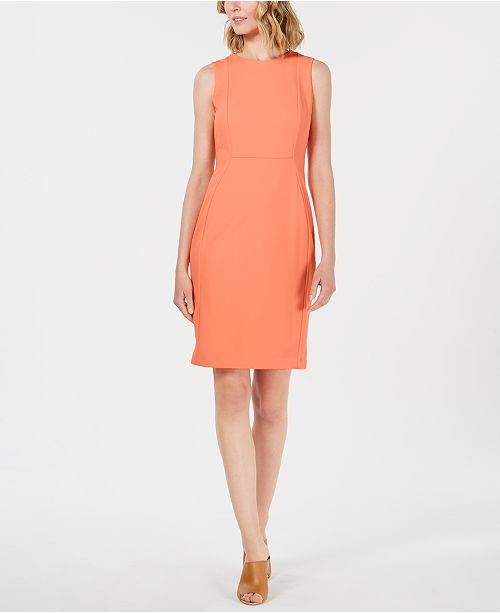 c49120c8 Calvin Klein Scuba Crepe Sheath Dress & Reviews - Dresses - Women ...