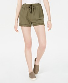 American Rag Juniors' Cotton Fringe Soft Shorts, Created for Macy's