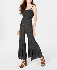 American Rag Juniors' Printed Flare-Leg Jumpsuit, Created for Macy's