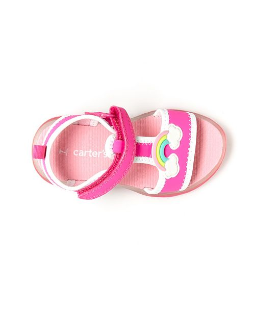 6bcba85537 Toddler & Little Girls Feline Rainbow Light-Up Sandals