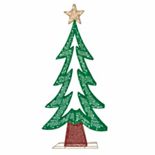 Puleo International Premium 72 in. Fabric Mesh Christmas Tree with 250 Warm White LED Lights