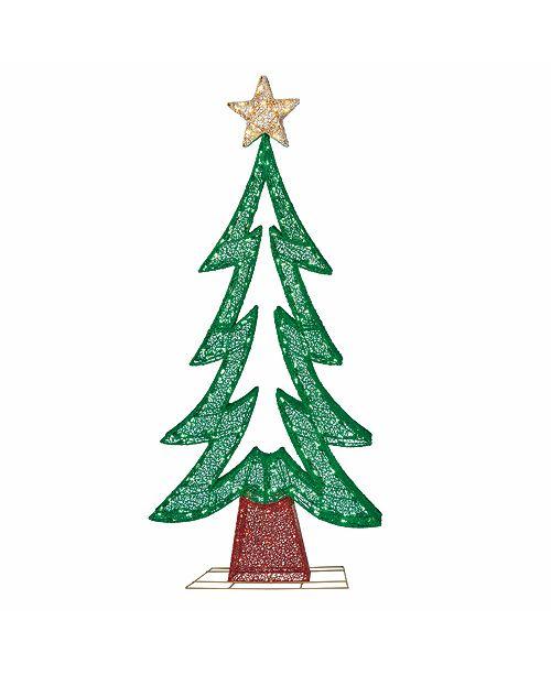 Puleo International Premium 72 in. Fabric Mesh Christmas Tree with 250 Warm White LED Lights