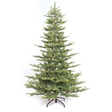 Puleo International 6.5 ft. Pre-lit Arctic Fir Artificial Christmas Tree 500 UL listed Clear Lights