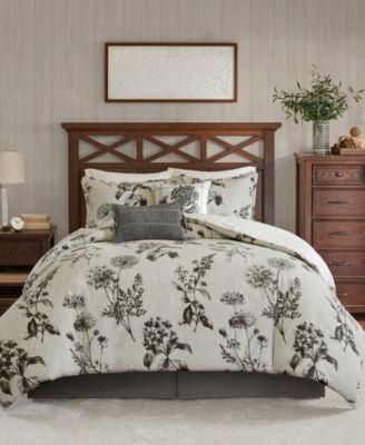 Nellie King 6-Piece Oversized Reversible Cotton Comforter Set