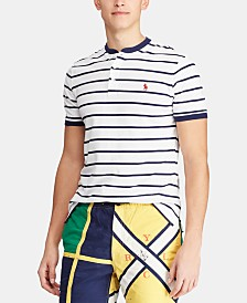 Polo Ralph Lauren Men's Custom Slim Fit Striped Mesh Henley T-Shirt