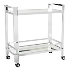 Gianna Acrylic Bar Trolley, Quick Ship