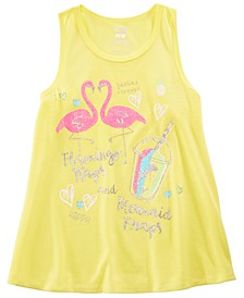 Little & Big Girls Flamingo-Print Pajama Tank Top, Created for Macy's