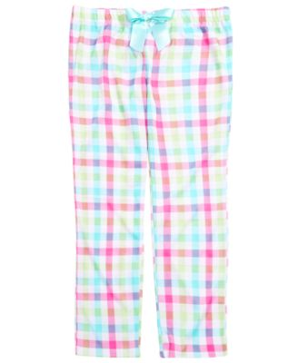 Little & Big Girls Plaid Pajama Pants, Created for Macy's