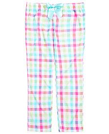 Max & Olivia Little & Big Girls Plaid Pajama Pants, Created for Macy's