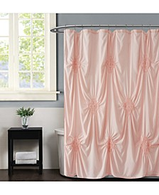 "Georgia Ruched 72"" x 72"" Shower Curtain"