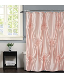 "Christian Siriano Georgia Ruched 72"" x 72"" Shower Curtain"