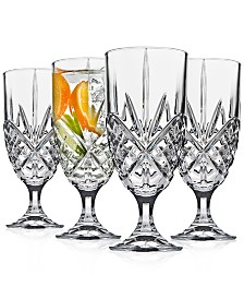 Godinger Dublin Acrylic Set of 4 Iced Tea Glasses