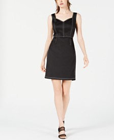 Bar III Stitched-Bodice Sheath Dress, Created for Macy's