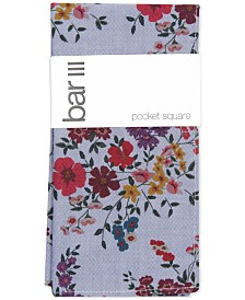 Bar III Men's Savoy Floral Pocket Square, Created for Macy's