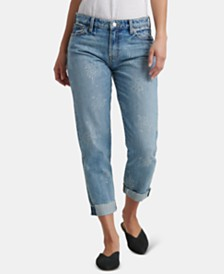 Lucky Brand Cotton Printed Slim-Leg Boyfriend Jeans