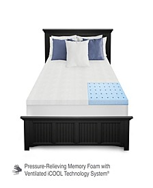 "1.5"" Ventilated Gel-Infused Memory Foam Mattress Topper Collection"