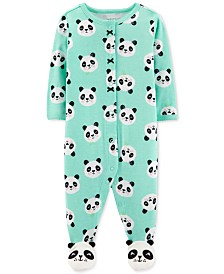 Carter's Baby Girls Panda-Print Footed Cotton Pajamas